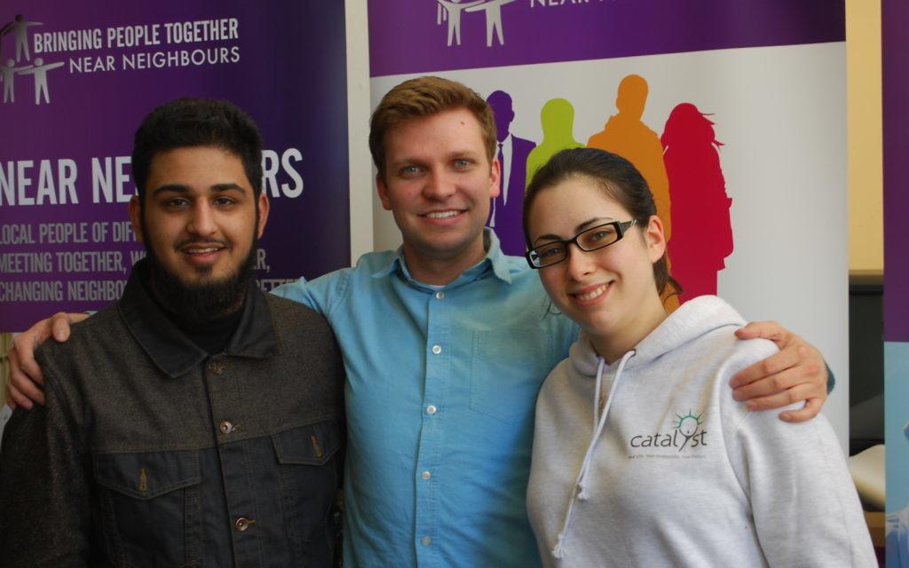 Three Near Neighbours participants - Adam, Sam, Zoe from Leeds.