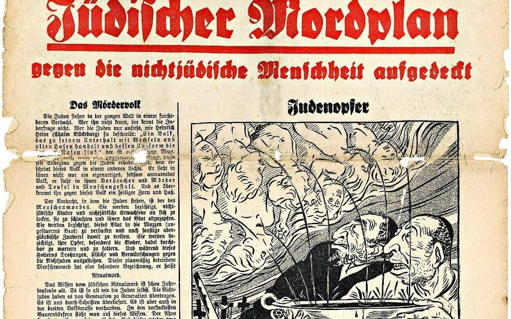An edition of Der Sturmer focusing on ritual murder