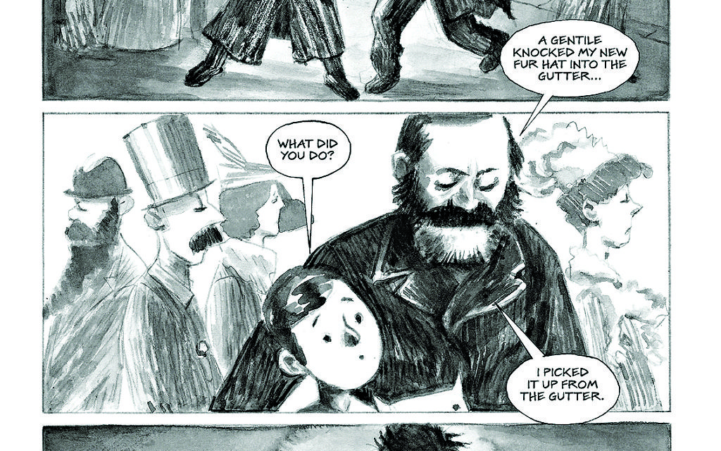 A memory from Freud's early life as portrayed in the graphic novel Hysteria