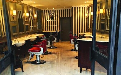 Luxury surroundings at the Stag grooming salon, which King describes as 'a gentleman's club where you can chill'