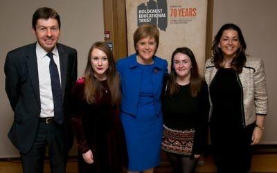 Ken Macintosh MSP, Rebecca Quinn, First Minister Nicola Sturgeon MSP, Gemma Grier, Karen Pollock