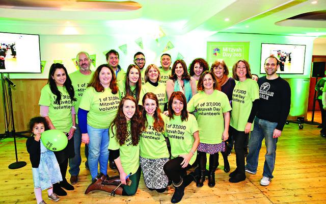 Mitzvah Day participants