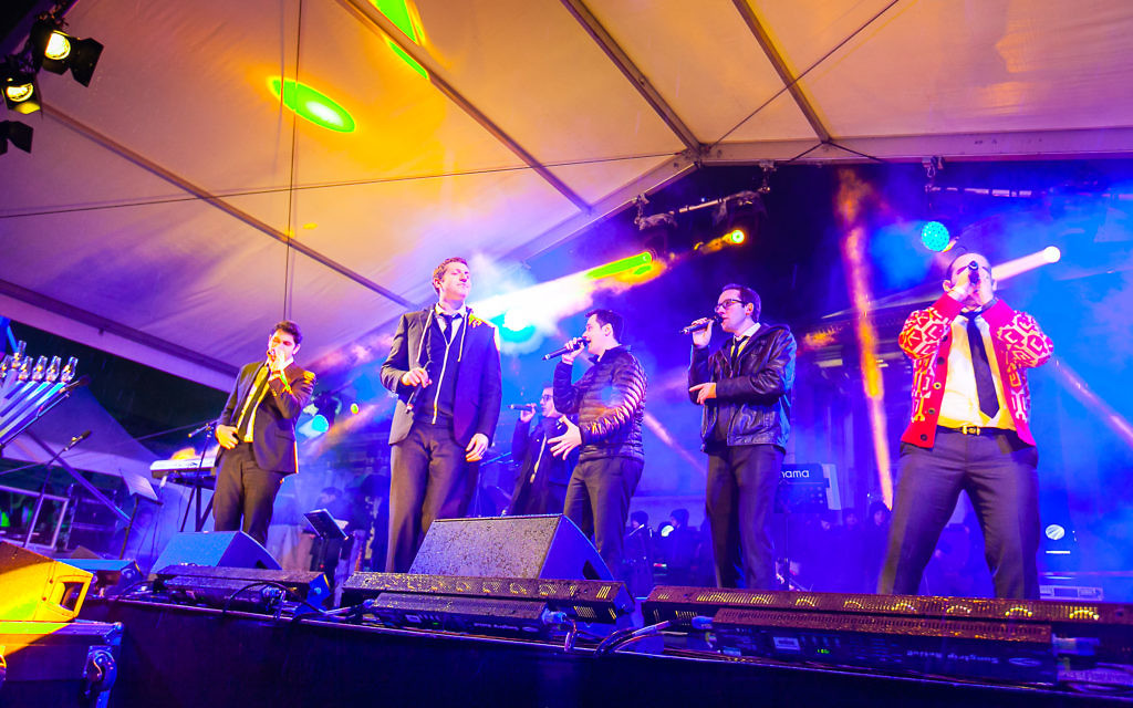 The Maccabeats entertained 7,000 people in Trafalgar Square.
