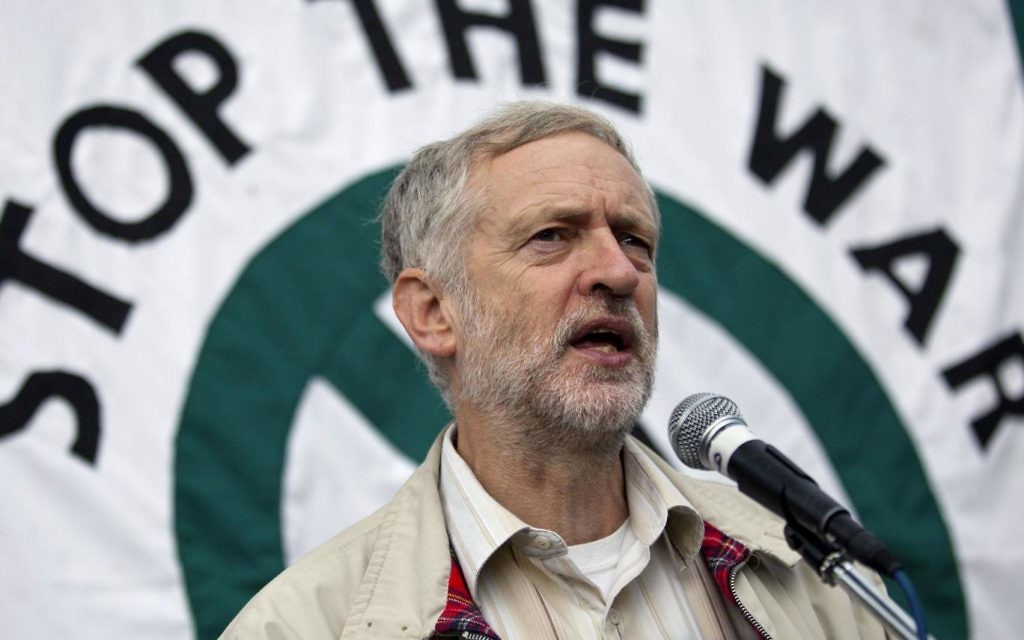 Jeremy Corbyn at a Stop The War demonstration in 2012, before he was leader.