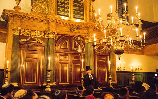 A ceremony at the Spanish and Portuguese Jews Congregation, at Bevis Marks Synagogue, London.   (C) Blake Ezra Photography 2015.