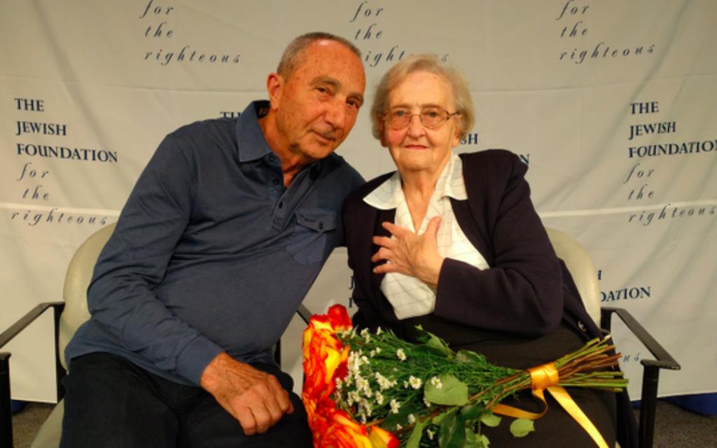 Holocaust survivor Michael Hochberg with rescuer Krystyna Jakubowska