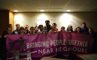 Young Jewish activists with Rabbi Natan Levy and Imam Mamadou