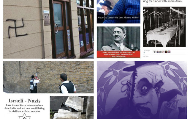 Examples of hate crime online