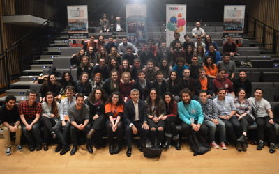 Labour's mayoral candidate Sadiq Khan with UJS Conference delegates.