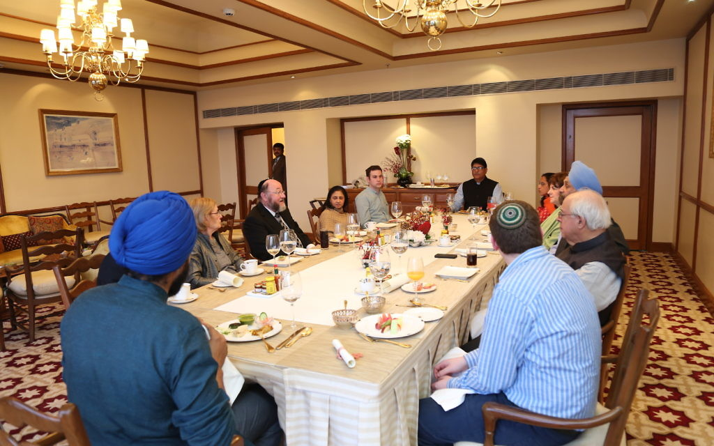 Chief Rabbi meeting Jewish-Indian leaders.