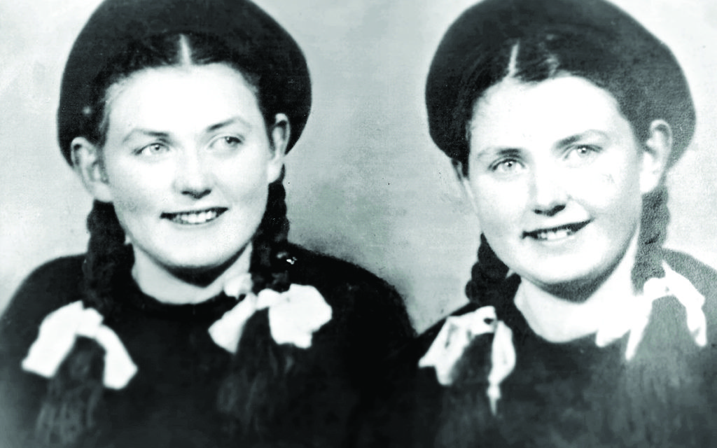 Eva with her twin sister Miriam shortly before the war