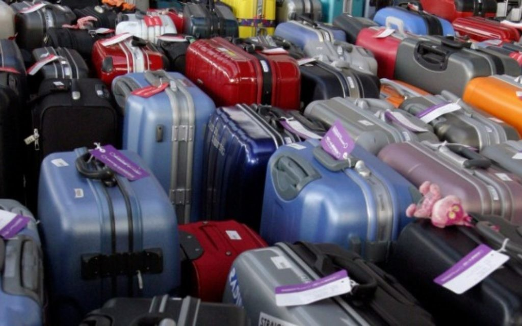 The luggage uses Bluetooth technology to sync with an app on your phone.