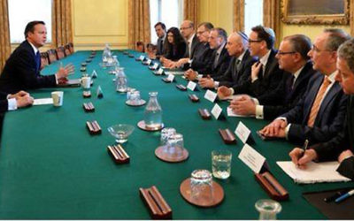 PM David Cameron and jewish leaders discussing priorities for the community in 2015.
