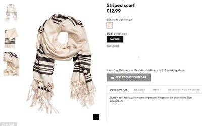 'Striped scarfe' ? I'm sure I've seen this in shul before...