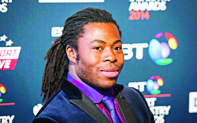 Ade Adepitan MBE arriving at the BT Sport Industry Awards 2014 at Battersea Evolution in London.