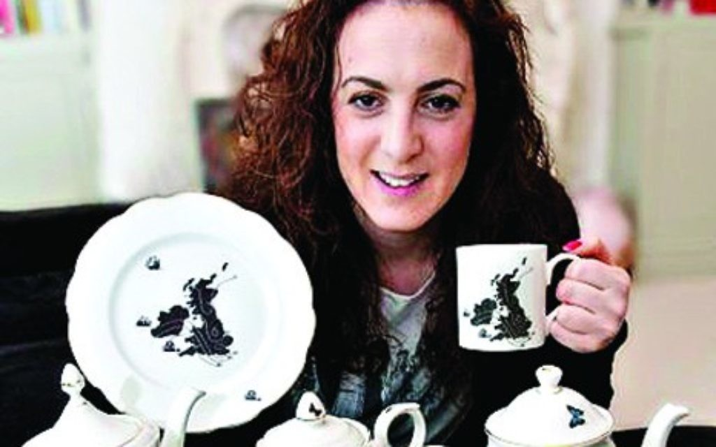Tea's up! Ali Miller with some of the sets she has created
