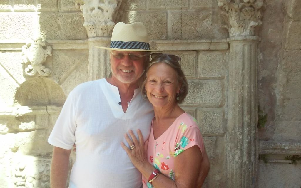 Gershon Coren and his wife, Josanne – pictured in Crete