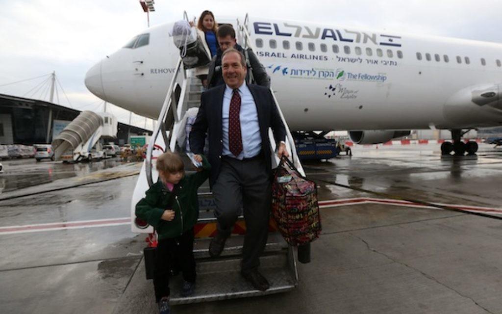 Jews land in Israel after making aliyah