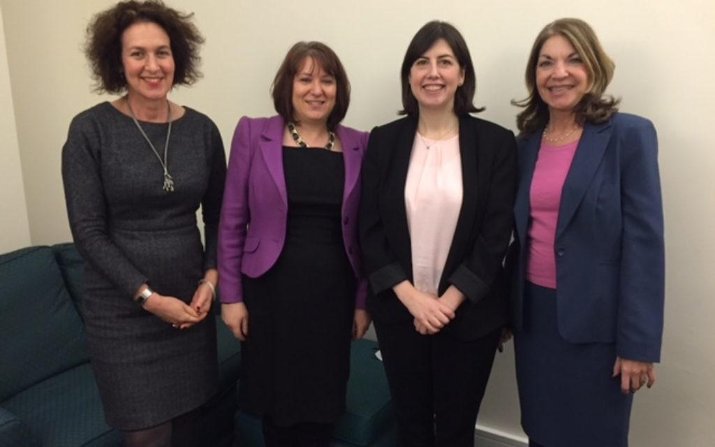 Photo: (left to right) Gillain Merron, Sara Perlmutter, Lucy Powell and Sheila Gewolb