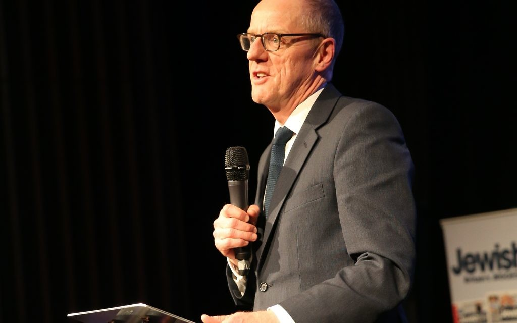 Nick Gibb speaking at the Jewish News' Jewish Schools Awards in 2016