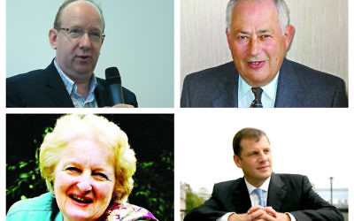 Top (l-r) Lord Finkelstein, Lord Palmer. Bottom (l-r) Baroness Neuberger and Lord Kestenbaum,