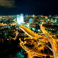 The bustling city of Tel Aviv is home to some of Israel's major banks