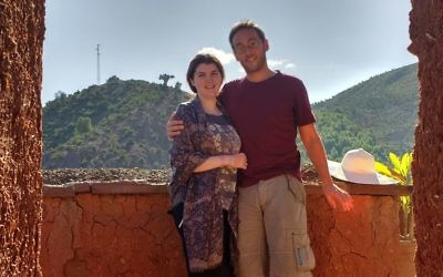 Relaxing in an old Berber village, with the Atlas Mountains in the background