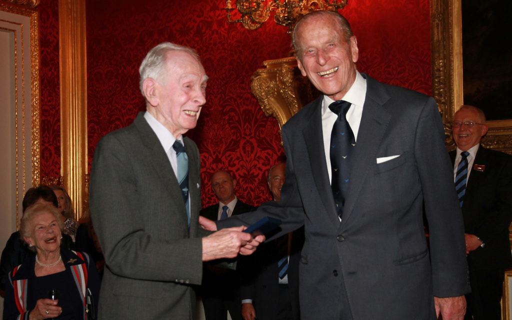 Eric 'Winkles' Brown with the Duke of Edinburgh