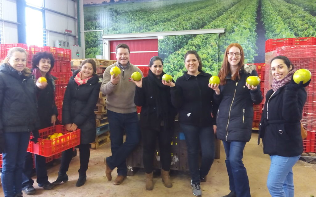 The volunteers in the image are: Rob Dixon, Gabi Kobrin, Natasha Kosky, Rawya Abu Rizik, Janna Shortt, Oryan Uzan, Avivit Imerman