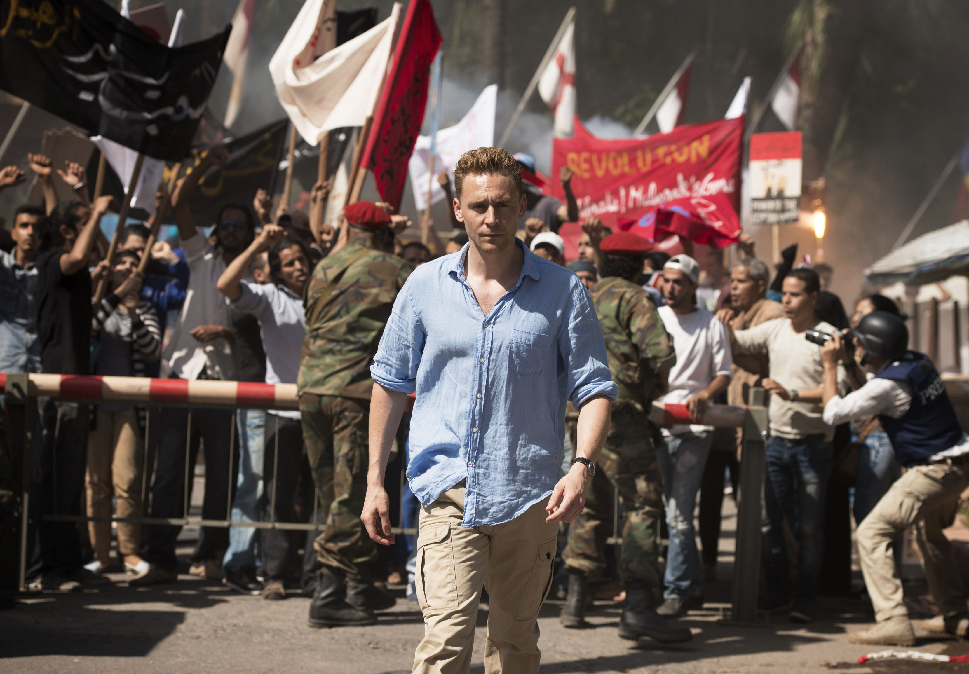 Programme Name: The Night Manager - TX: n/a - Episode: The Night Manager (No. Ep 1) - Picture Shows: Jonathan Pine (TOM HIDDLESTON) - (C) The Ink Factory - Photographer: Des Willie