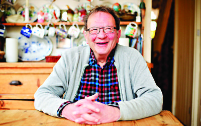 Larry Sanders, older brother of former United States presidential hopeful Bernie Sanders, at his home in Oxford.