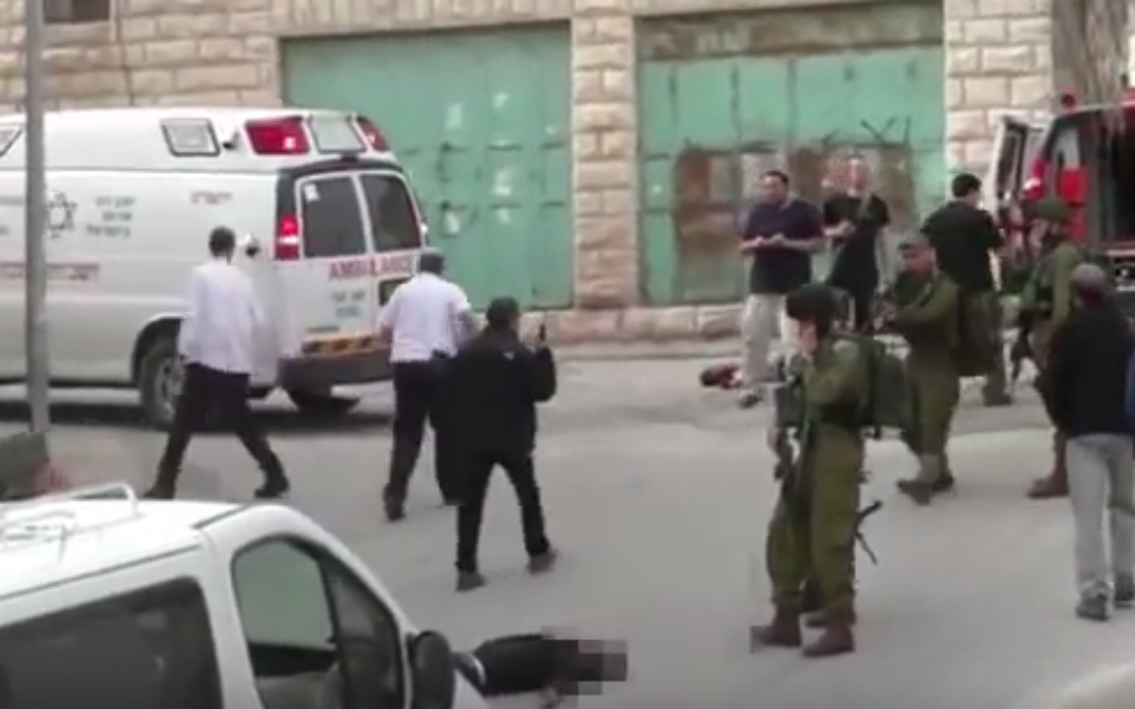 The moment an Israeli soldier shot an injured Palestinian in the head