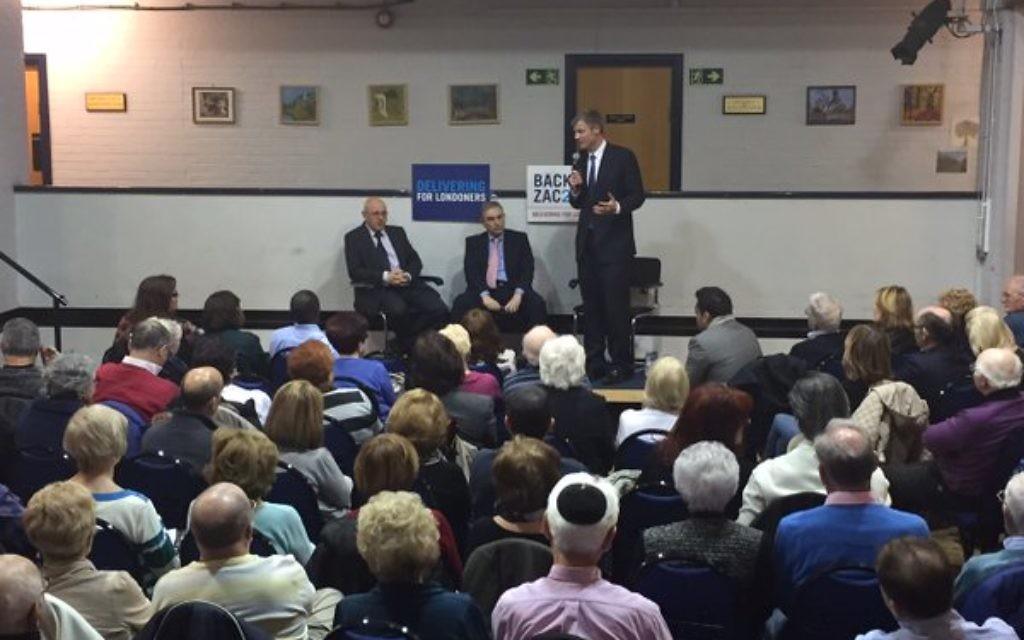 Zac speaking at Redbridge Jewish Community Centre during a Q&A