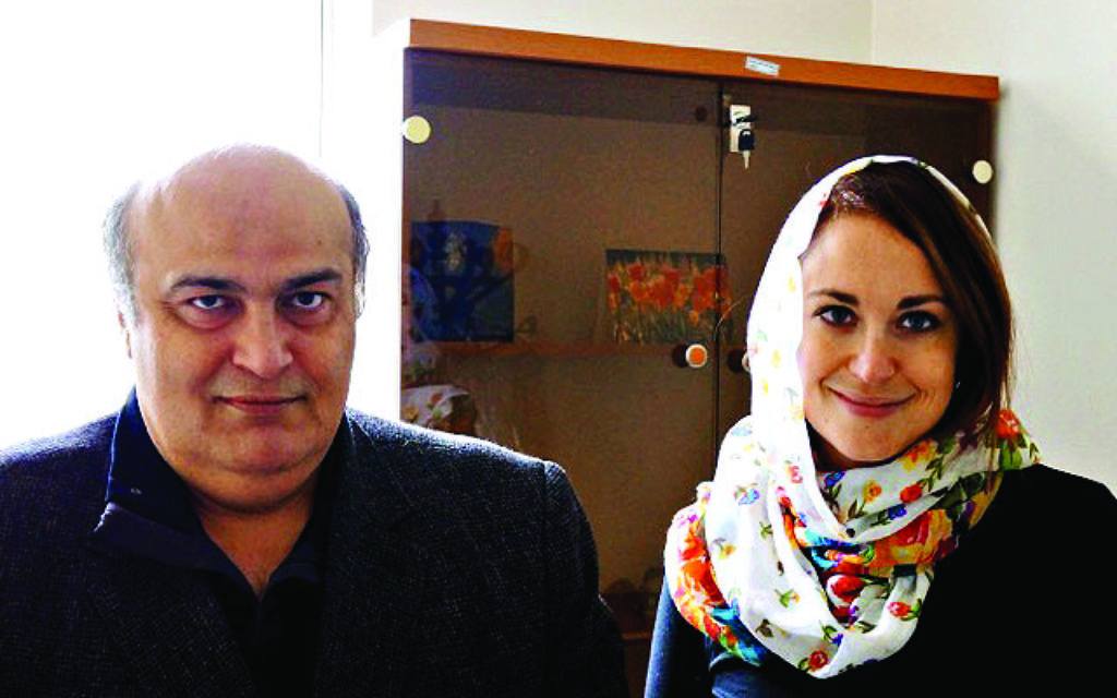 Dr. Moreh Sedegh (left) with Annika Channa Rothstein (right)