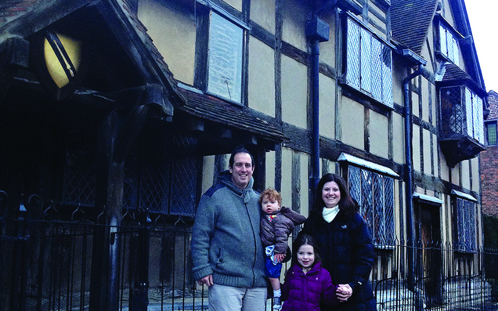 Francine and her family in Stratford-upon-Avon