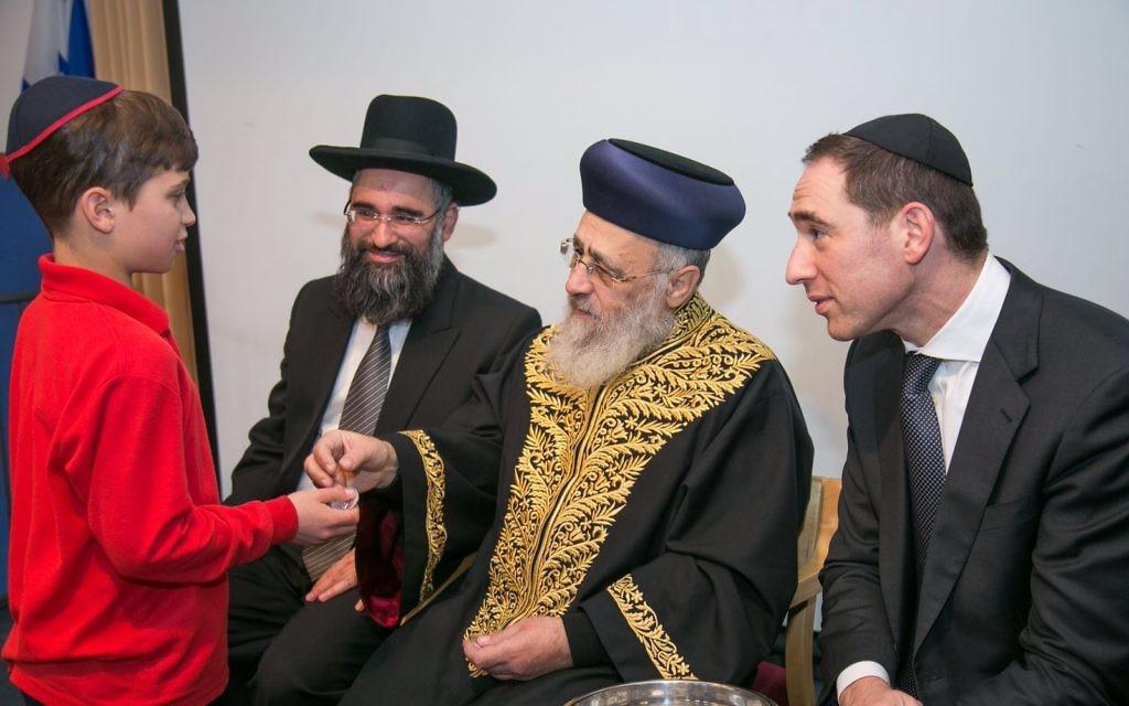 Left to Right:  Rabbi Joseph Dweck, the Rishon LeZion, AND Dayan Navon