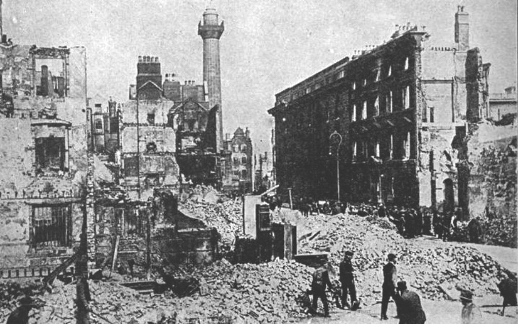 Sackville Street (Dublin) after the 1916 Easter Rising