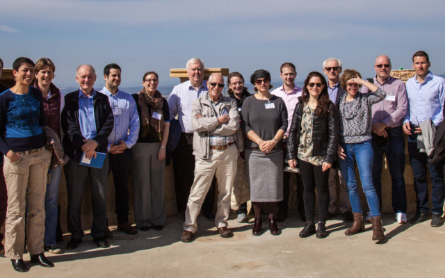 The UK Task Force delegation in Umm el Fahem (Photo: Eli Gaventa Photography)