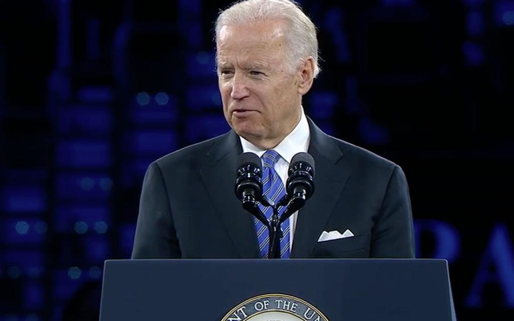 US Vice-President Joe Biden addresses AIPAC 2016.