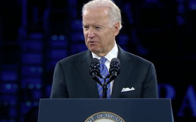 US Vice-President Joe Biden addresses AIPAC 2016.