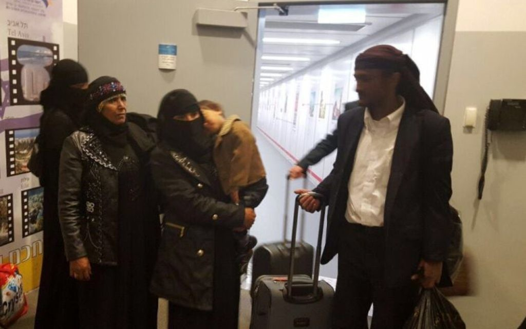 The Yemeni Jews on arrival in Israel (Picture credit: The Jewish Agency for Israel)