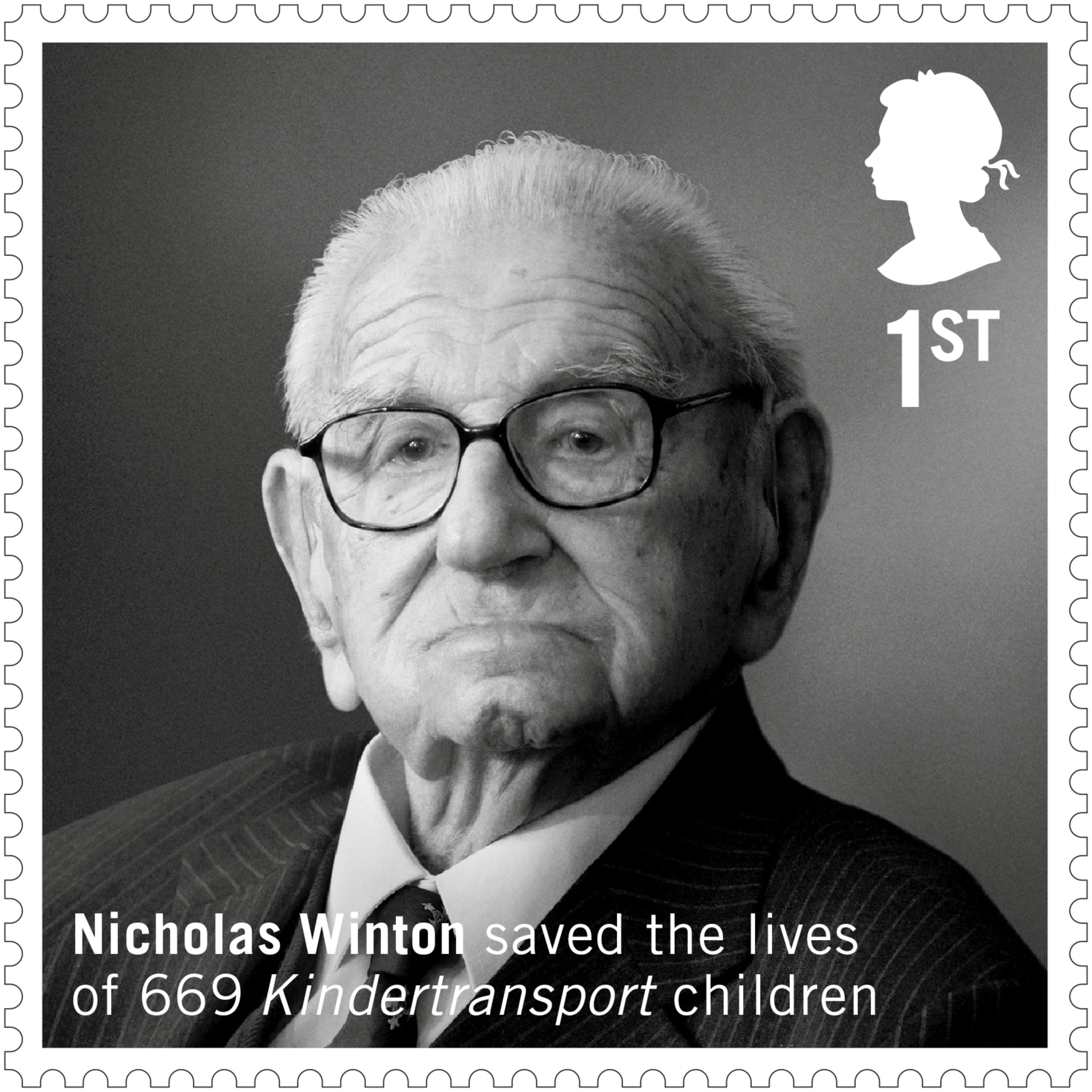 The Royal Mail's Sir Nicholas Winton's stamp – issued following a Jewish News campaign backed by 106,000 people.
