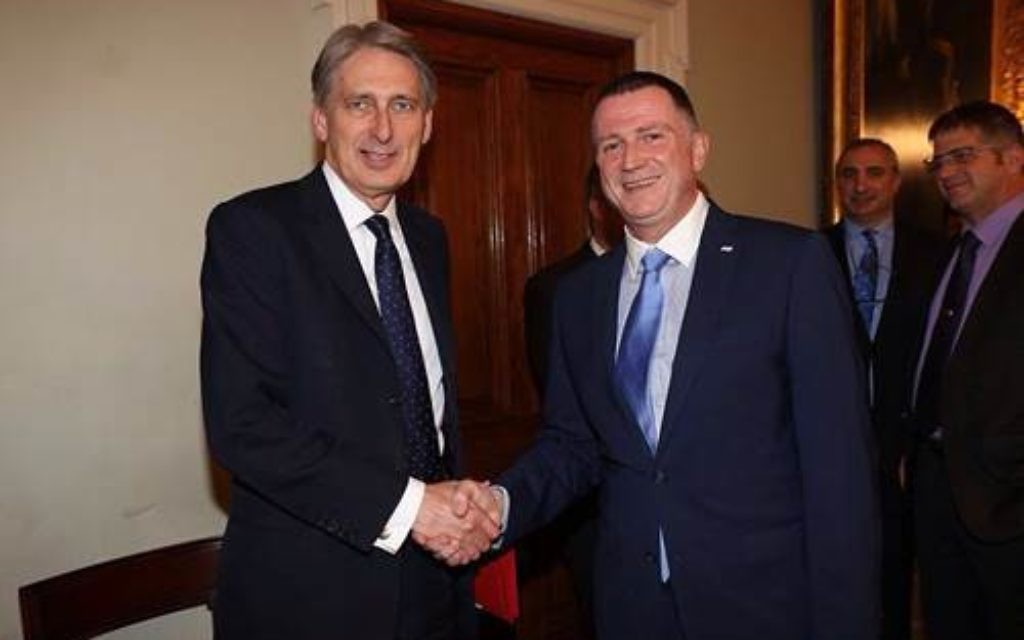 Philip Hammond with Yuli Edelstein