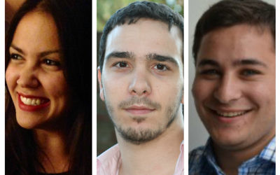 The rising stars: Judith Flacks, Adam Langleben and Russell Langer
