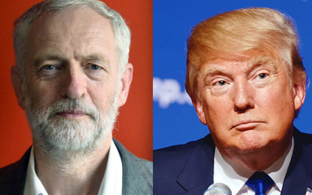 Jeremy Corbyn and Donald Trump are on political poles but have both taken politics by storm