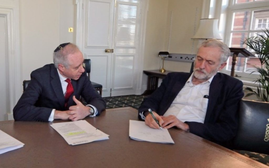 Board president Jonathan Arkush met with the Labour leader in February 2016