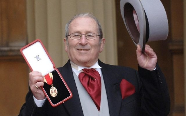Playwright Sir Arnold Wesker holds his Knighthood, which he received from Britain's Queen Elizabeth II at Buckingham Palace, Wednesday February 22, 2006. See PA Story ROYAL Investiture. PRESS ASSOCAITION Photo. Photo credit should read: Stefan Rousseau/WPA Rota/PA.