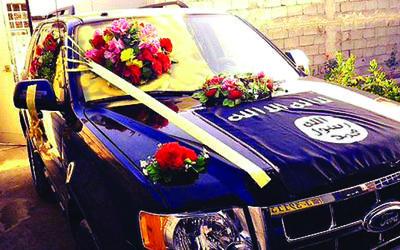 Al-Amriki-ISIS-wedding-car
