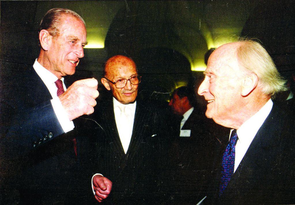 HRH Prince Phillip, Sir Sigmund Sternberg, and Yehudi Menuhin