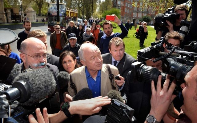 Ken Livingstone is surrounded by the press after being thrown into controversy, by suggesting Hitler supported Zionism